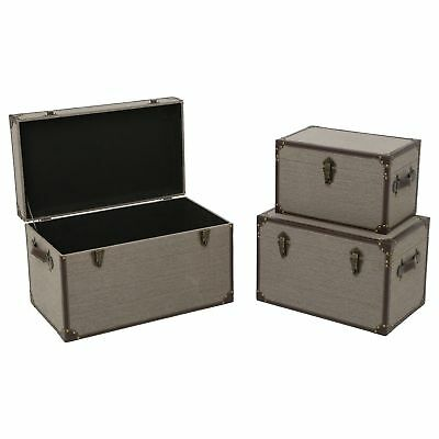 3 Trunks of storage Canvas - 50 x H. 37 cm - Taupe