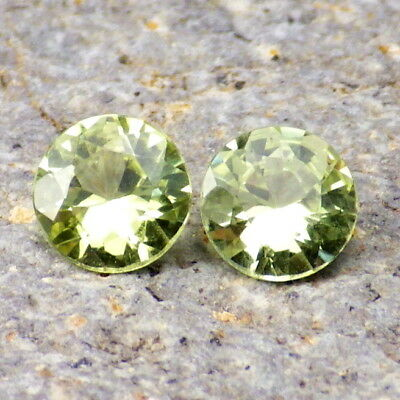 CHRYSOBERYL-BRAZIL 1.61Ct TW EYE CLEAN-VERY RARE MATCHING PAIR-FOR TOP JEWELRY!