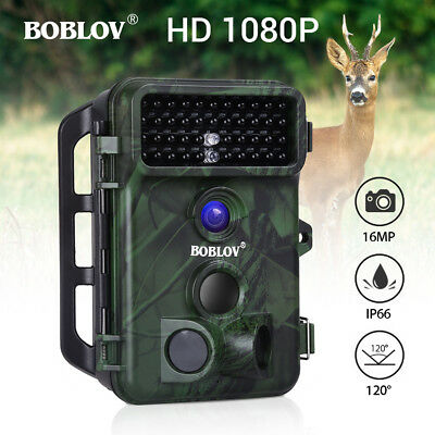 BOBLOV 16MP 1080P Trail Camera Waterproof 0.5S Motion Activated IP66 Wild Camera