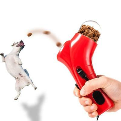 Pet Treat Launcher Training dog food catapult auto pets food thrower puppy Snack