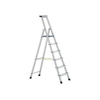 Zarges 41228 Anodised Trade Platform Steps Platform Height 1.76m 8 Rungs