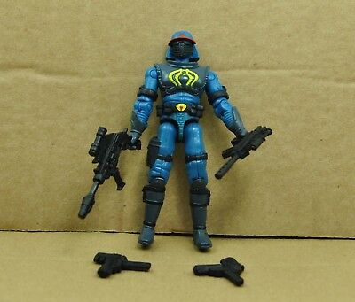 "3.75/"" Gi Joe blue viper guard  with Accessories Rare Action Figure"