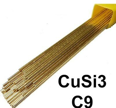 Silicon Bronze C9 Tig Brazing Filler Rods 1.2mm Choose your Qty 330mm length