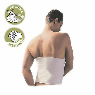 Elastic Warming Belt with ANGORA and MERINO WOOL Back Warmer Kidney Support