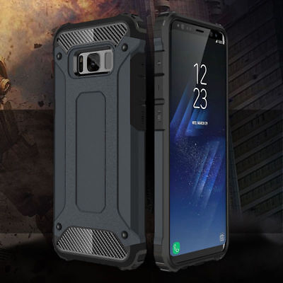 Hybrid Armor Shockproof Rugged Bumper Case For Samsung Galaxy S7 Edge S8 S9 S10