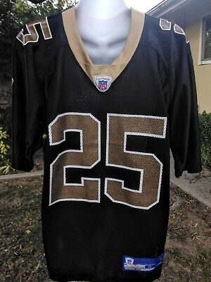 REEBOK NFL JERSEY  25 Reggie Bush New Orleans Saints Men s size 52 ... 06dd4c781