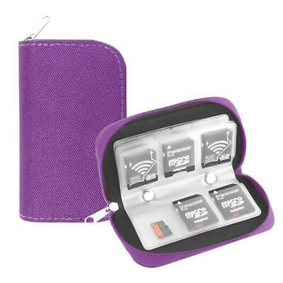 SD Memory Card Case Holder Water Resistant Storage Carrying Pouch Wallet Box D