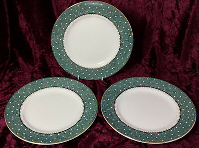 "Vintage Ridgway Green 'Conway' China Spares 3 x 7"" Tea Plates / Side Plates"