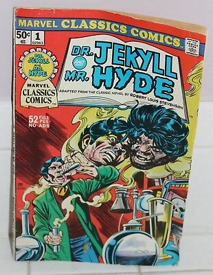 VTG DR JEKYLL and MR HYDE MARVEL CLASSIC COMIC BOOK 1976