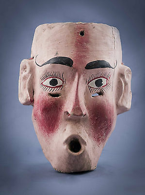 Chiflador / Whistler  Wooden Mask  Mexican Folk Art Wm2