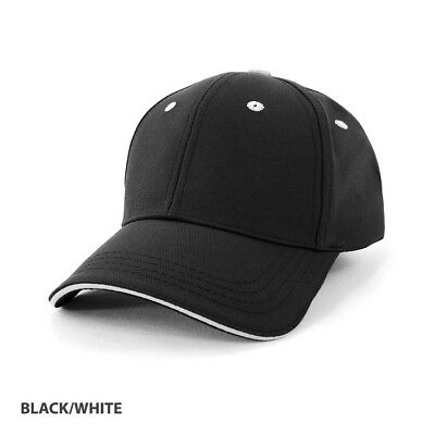 Pet/cotton Sandwich Cap ( Ah126) - Black/white