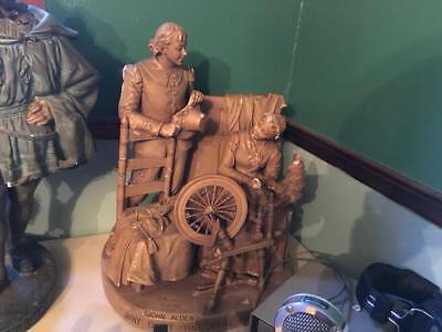 2 Huge John Rogers Group of Statuary Sculptures 1800s civil war era