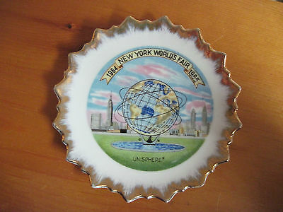 Vintage 1964-1965 World's Fair New York Small Plate Souvenir Unisphere