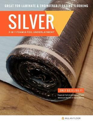 2 in 1 Premium Foam & Foil Silver Underlayment 100 SQ.FT [ Wholesale Price ]
