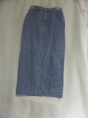 Womens Gap Denim  Long Skirt Sz 4