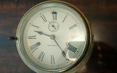 Antique New Haven Naval Ships Clock