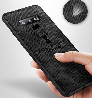 For Samsung Galaxy Note 9 S8 S9 Hybrid Soft TPU Leather Case Cover Shockproof