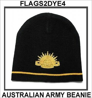 Australian Army beanie hat for ANZAC lest we forget + AUSTRALIA POST TRACKING