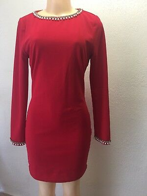 long sleeves woman dress, Xtaren color Red, size L used.