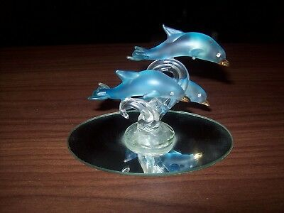 "Glass Dolphins ""Blue"" Save On Shipping"