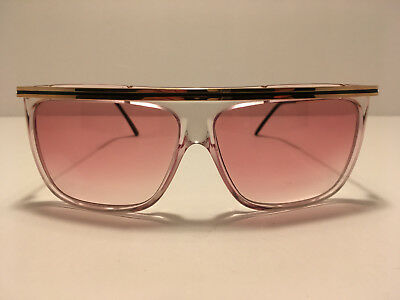 VTG NOS 80s Ultra Impulse Clear Pink Gold sunglasses 59-21-135 Made in Italy