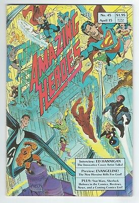 Amazing Heroes #45 (Apr, 1984 Fantagraphics) 1st TMNT preview VF/VF+