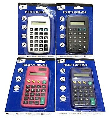 Pocket Size Calculator Handy Size 8 Digit Display For School Office and Home.