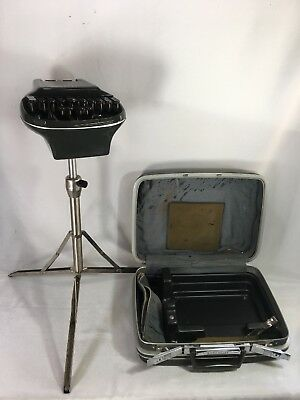 Vintage Stenograph Shorthand Machine Reporter Model w/ Tripod & Samsonite Case