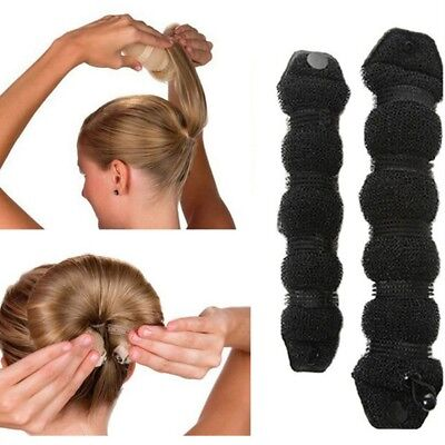 Women Sponge Hair Styling Donut Bun Maker Magic Former Ring Shaper Styler Tool