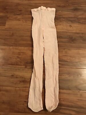 Girls Pink Capezio Dance Footed Tights Size Large 12/14