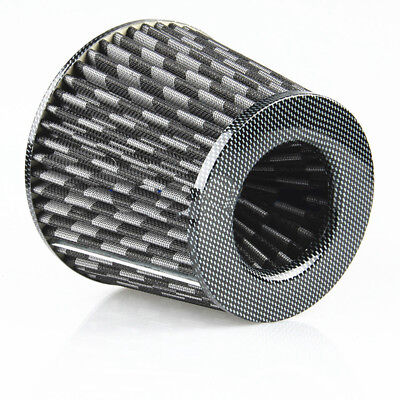 3 inch 76mm Carbon Fiber Look Cone Car Vehicle High Flow Cold Air Intake Filter
