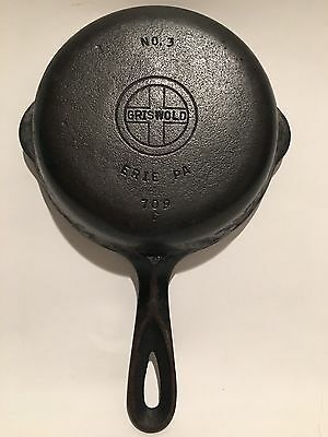 Griswold #3 Cast Iron 709 C Small Logo Skillet Fry Pan Erie Pa