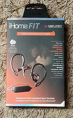 iHome Fit Earbuds. Water-Resistant Wireless Bluetooth. Model iB71BRC. Brand NEW