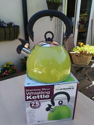 Kettle Whistling Tea Pot Water Stainless Steel Teapot Camping Stovetop 2.5 Litre