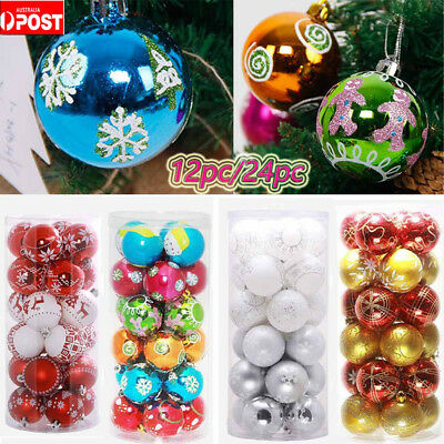 Large Christmas Ornaments.24x Large Christmas Decorations Baubles Tree Xmas Balls Party Wedding Ornaments