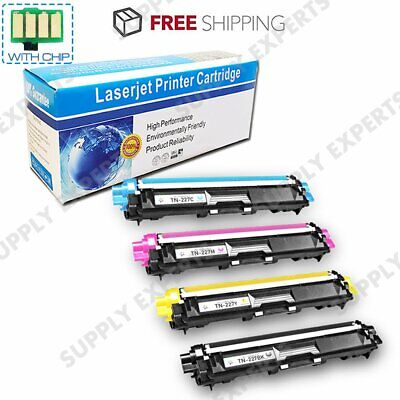 4PK For Brother TN227 TN223 Toner HIgh Yield MFC-L3770CDW HL-L3270CDW WITH CHIP