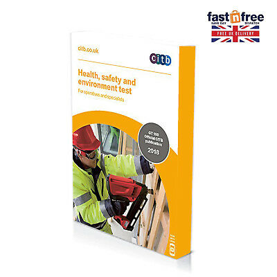 NEW CITB 2018 CSCS Card Test Book Health Safety and Environment for Operatives