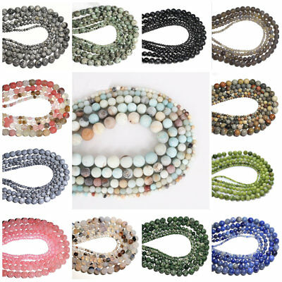 4/6/810mm Imitation Natural Agate Gems Loose Beads Strands DIY Round Loose Beads