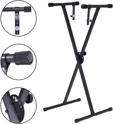 Adjustable Keyboard Piano X-Stand Electric Organ Rack Black Lightweight Portable