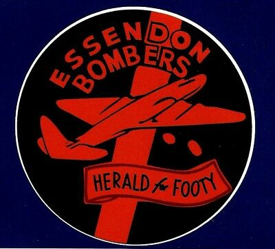 ''ESSENDON THE BOMBERS & THE HERALD'' VINYL DECAL STICKER PROMO football afl vfl