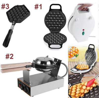 Electric Bubble Egg Cake Maker Oven Waffle Pan Kitchen Baker Machine NonStick D