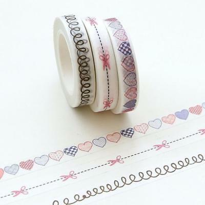 Dividing line Decorative Washi Tape Scrapbooking Adhesives Sticker DIY 8mm