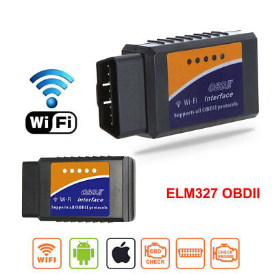 ELM327 WiFi Bluetooth OBD2 OBDII Car Diagnostic Scanner Code Reader iOS Android