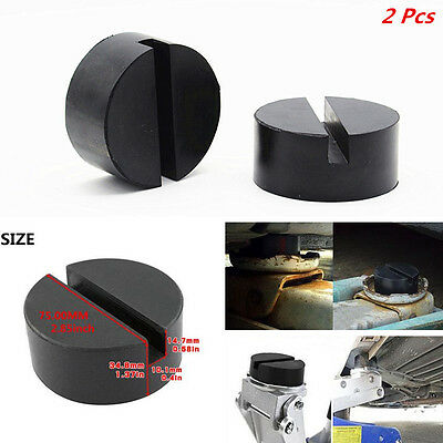 2Pcs Car Floor Jack Disk 60*24mm Rubber Pad Adapter for Pinch Weld Side JACKPAD