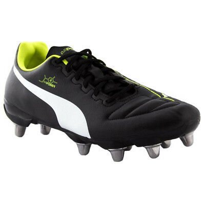 New Puma evoPOWER 4.2 H8 SG  Rugby Boots UK Size uk  12  BLACK YELLOW