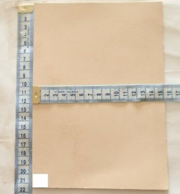 Natural Craft Leather 3Mm Thick Veg Tan Hide Tooling Leather Offcuts Clearance