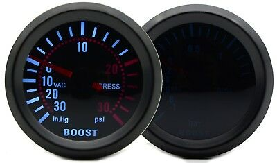 52mm AGG-1 Smoked Turbo Boost Gauge 30 PSI Pressure