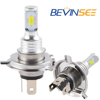 BEVINSEE For Honda Scooter 100W Super White Bright Headlight LED 2x Bulbs 3000LM