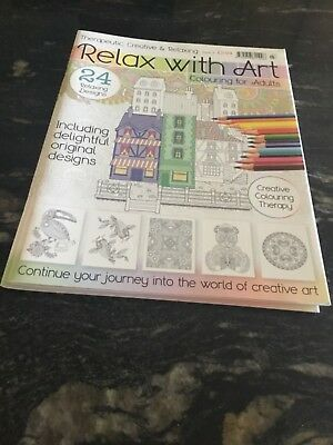 Advanced Art Therapy RELAX with ART Magazine Stress Release  Issue 3.   Only 99p