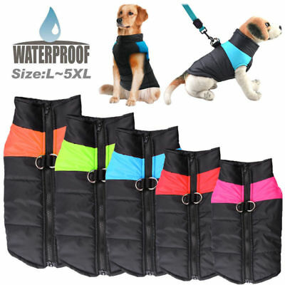 S-5XL Waterproof Pet Dog Clothes Autumn Winter Warm Padded Coat Vest Jacket